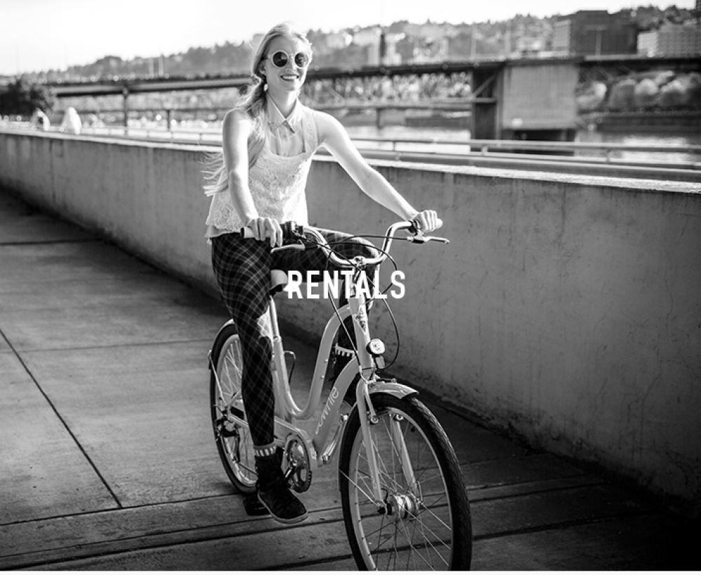 Rent a bike by the hour or by the day