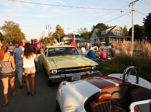 Strolling through the classic cars
