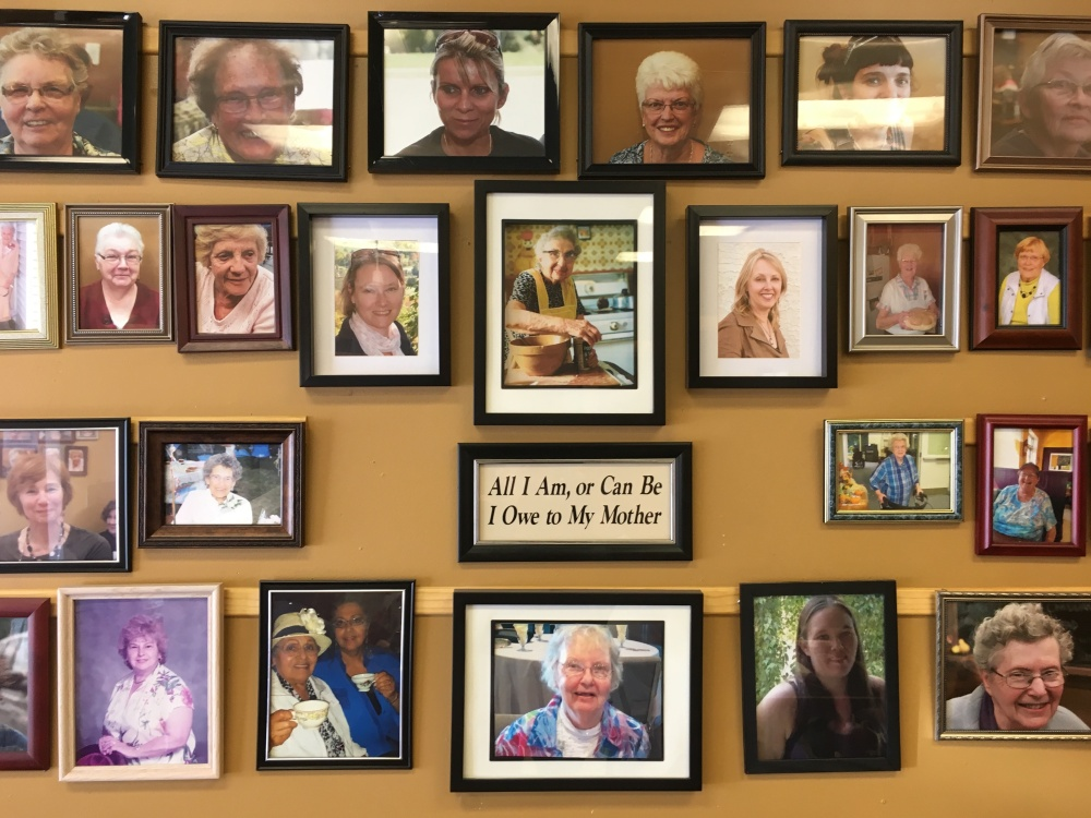 Mom's Wall of Fame.