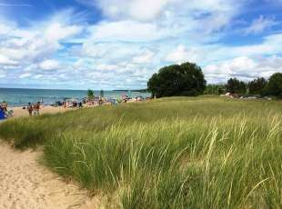 Sand dunes ensure beautiful beaches